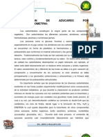 Determinacion de Azucares Por Espectrofotometria
