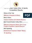 Results of the 2013 Hudson Valley Wine & Spirits Competition