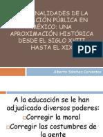 Las finalidades de la educación pública en México