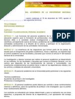 Estatuto del Personal Académico de la UNAM