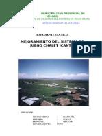 MemDescriptiva CHALET - ICANTAÑA (tuberia 200 m.)