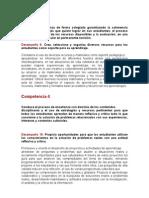 Competencia y Desempeños Para el Taller de Tacna