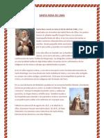 Santa Rosa de Lima Biografia