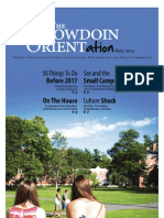 The Bowdoin Orient - Vol. 143, No. 0 - September 3, 2013