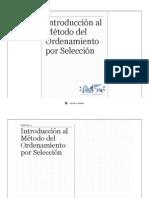 Introduccion Al Metodo Del Ordenamiento Por Seleccion
