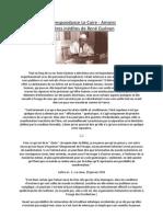 Lettres inédites de René Guénon