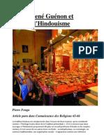 René Guénon et l'Hindouisme