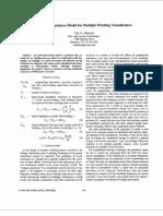 Leakage-impedance model for multiple-winding transformers