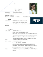 Resume in English word2003