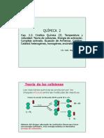 Clase Cap 2.3 Cinetica Quimica 3- Teoria de Colisiones, Arrhenius y Catalisis