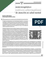 Elacompanamientoterapeuticoylosdispositivosalternativosdeatencionalasaludmental