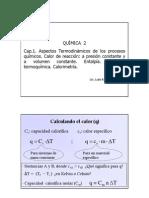 Clase Cap 1.3 Calor ,Entalpia y Calorimetria