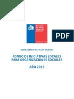 Bases Fondo de Iniciativas Locales 2013