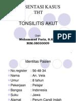 KASUS THT Tonsillitis
