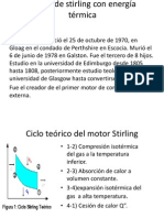 Motor de stirling con energía térmica