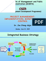 Project Management Implementation,Monitoring Control