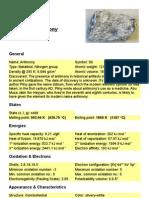 MDMWD Antimony 01 - Antimony General Description