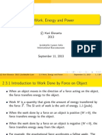 23 Work, Energy and Power 20130909