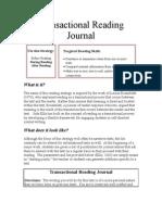 Transactional Reading Journal