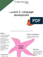 Lesson 2 Language Development
