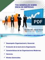 Tema 1 Conceptos Generales Sobre Gerencia Empresarial
