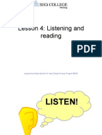 Lesson 4 Reading