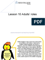 Lesson 10 Adults' Roles
