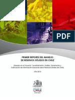 Primer Reporte del Manejo de Residuos Sólidos en Chile