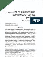 Hacia Una Nueva Definicion de Las Politicas Publicas