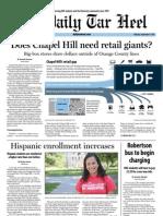The Daily Tar Heel for September 9, 2013