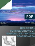 Biological Consideration of Mandibula Denture I (1)