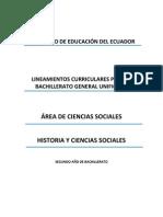 Lineamientos Historia y Ciencias Sociales 2do