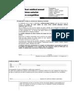 Certificat médical Vétérans hors Compet
