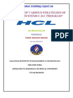 Analysis of Various Strategies of Hcl Infosystems c.d.c Program