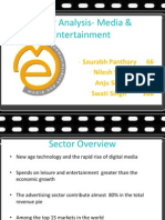 ANALYSIS OF MEDIA AND ENTERTAINMENT SECTOR