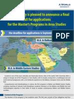 MAs in Balkan and Middle Eastern Studies Fatih Istanbul (1)