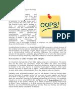 Avoiding Typical D&a Program Mistakes