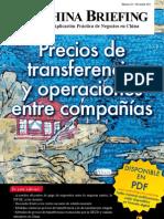 Precios de transferencia y operaciones entre compañías (CB 2011/11)