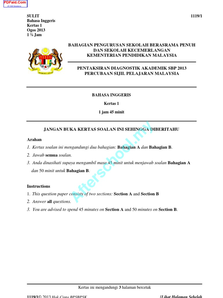 spm english essay paper 1 section b