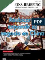 Reubicar o expandir su negocio en China (CB 2012/06)