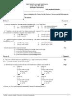 Test Initial Info Neintensiv Cls 10