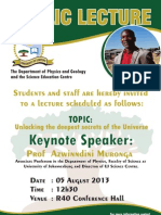 Prof Azwinndini Muronga's talk on 5 August 2013 at the University of Limpopo