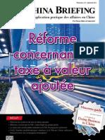 Reforme concernant la taxe a valeur (CB 2012 07/08)