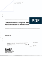 Comparison of Analytical Methods for Calculation of Wind Loads