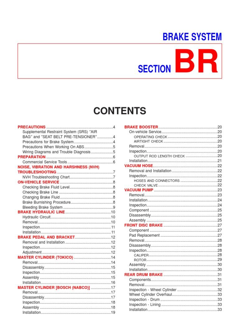 Nissan Sentra Service Manual: System