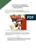19. Secta Vatican II contra Bisericii Catolice în privința Sfintei Împărtășanii dată necatolicilor