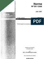 Terminologie-maintenance-NF en 13306 2001