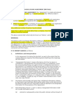 non-disclosure agreement free sample