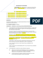partnership agreement free sample