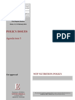 WFP Nutrition Policy 2012